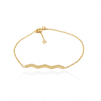 Bracelet femme Carador Zig Zag collection graphique en or jaune 375/000 356BR