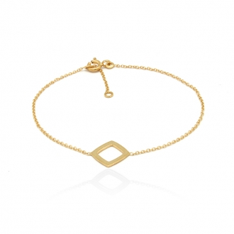 Bracelet femme Carador Carré collection graphique en or jaune 375/000 346BR