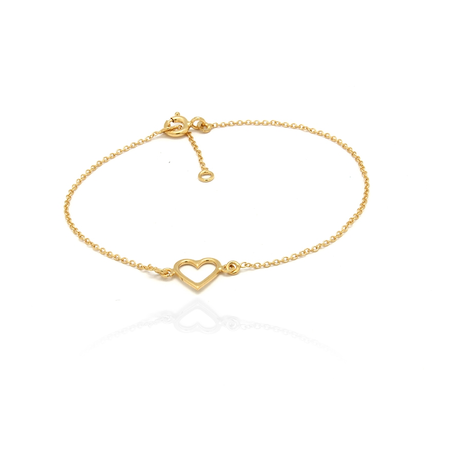 Bracelet femme Carador Coeur collection graphique en or jaune 375/000 360BR