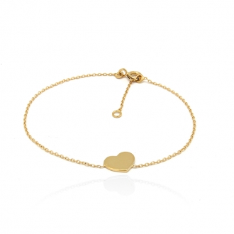 Bracelet femme Carador Coeur collection graphique en or jaune 375/000 188BR