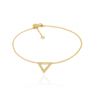 Bracelet femme Carador Triangle collection graphique en or jaune 375/000 352BR