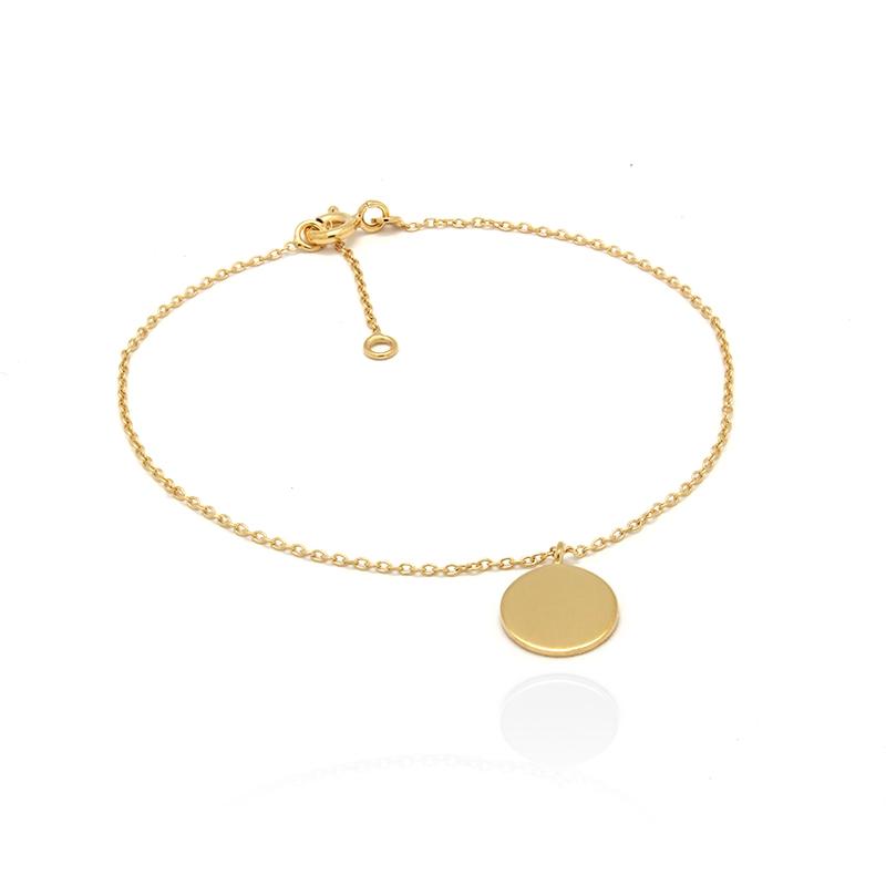 Bracelet femme Carador disque collection graphique en or jaune 375/000 232BR