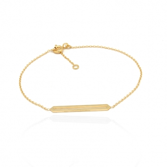 Bracelet femme Carador collection graphique en or jaune 375/000 349BR