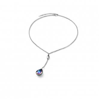 Collier Baccarat Fleurs de Psydélic scarabée bleu 2805022