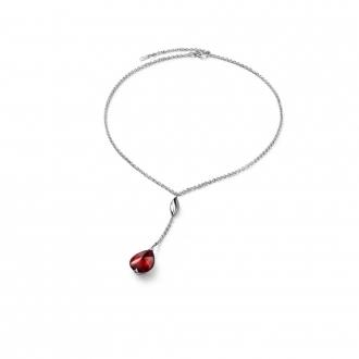 Collier Baccarat Fleurs de Psydélic rouge irisé 2610122