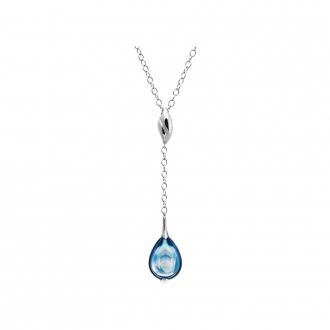 Collier Baccarat Fleurs de Psydélic aqua miroir 2608375