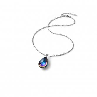 Collier Baccarat Fleurs de Psydélic scarabée bleu 2805023
