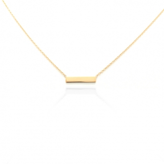 Collier femme Carador Rectangle collection graphique en or jaune 375/000 342CL
