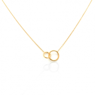 Collier femme Carador cercles collection graphique en or jaune 375/000 330CL1