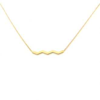Collier femme Carador Zig Zag collection graphique en or jaune 375/000 356CL