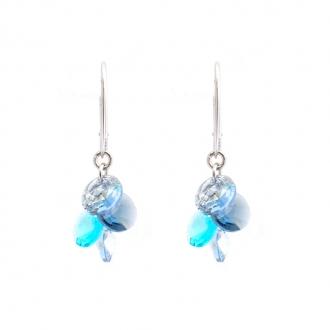 Boucles d'oreilles Indicolite Helen cristal bleu DO-HELEN-207