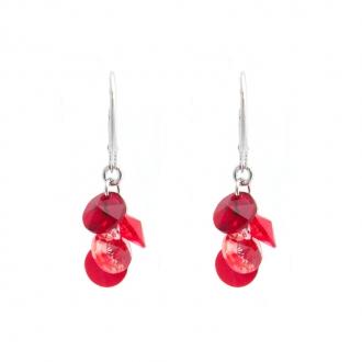 Boucles d'oreilles Indicolite Helen cristal rouge DO-HELEN-208