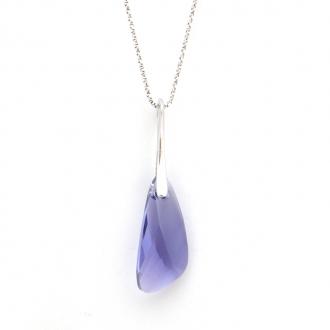 Pendentif Indicolite Wing cristal violet CO-WING-539