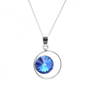 Collier Indicolite Juliette cristal bleu CO-JULI-206