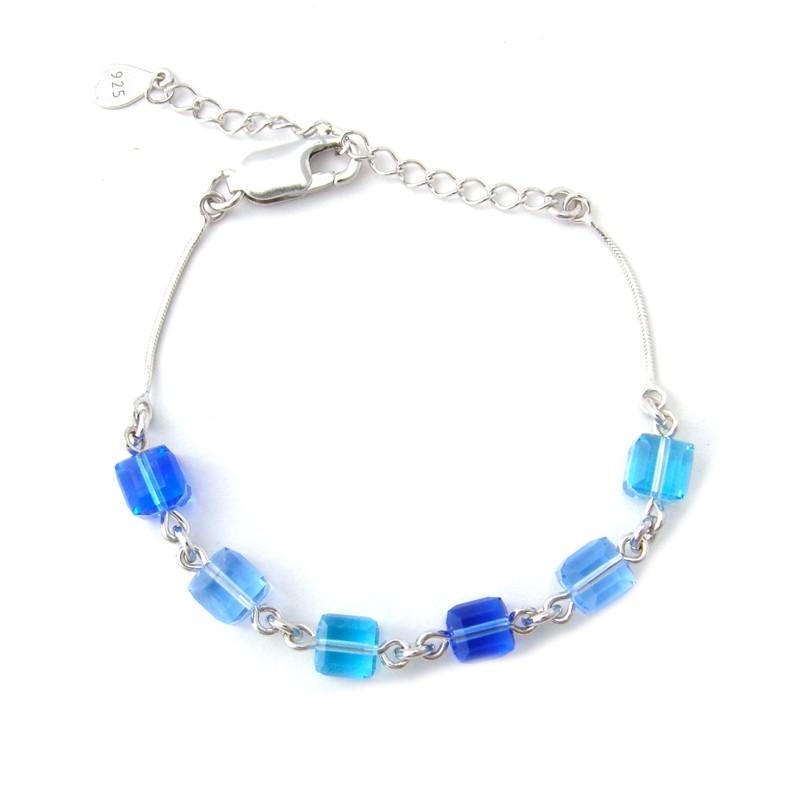 Bracelet Indicolite Cube bleu BR-CUBE-206