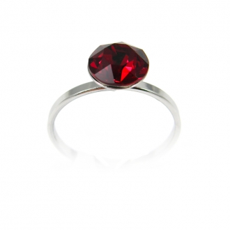 Bague Indicolite Ronde 8 mm rouge BAG-RON8-208