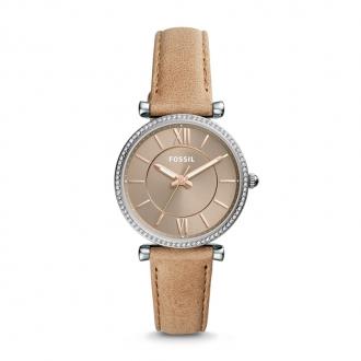 Montre Femme Fossil Carlie cuir sable ES4343