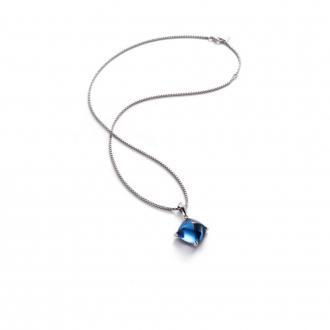 Collier Baccarat Médicis bleu riviera 2612782