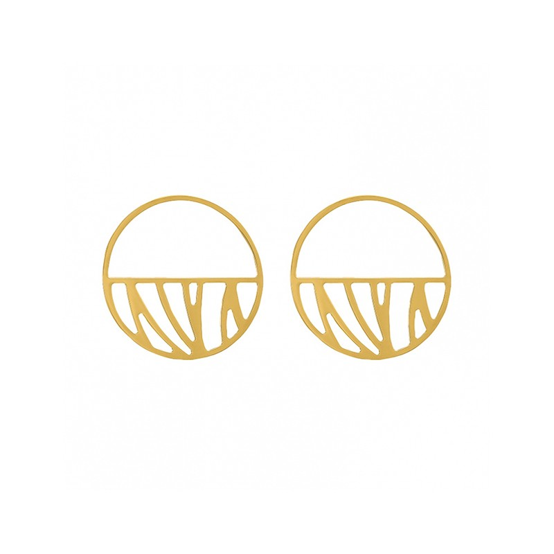 Boucles d'oreilles Les Georgettes Perroquet 43 mm finition or 70318851900000