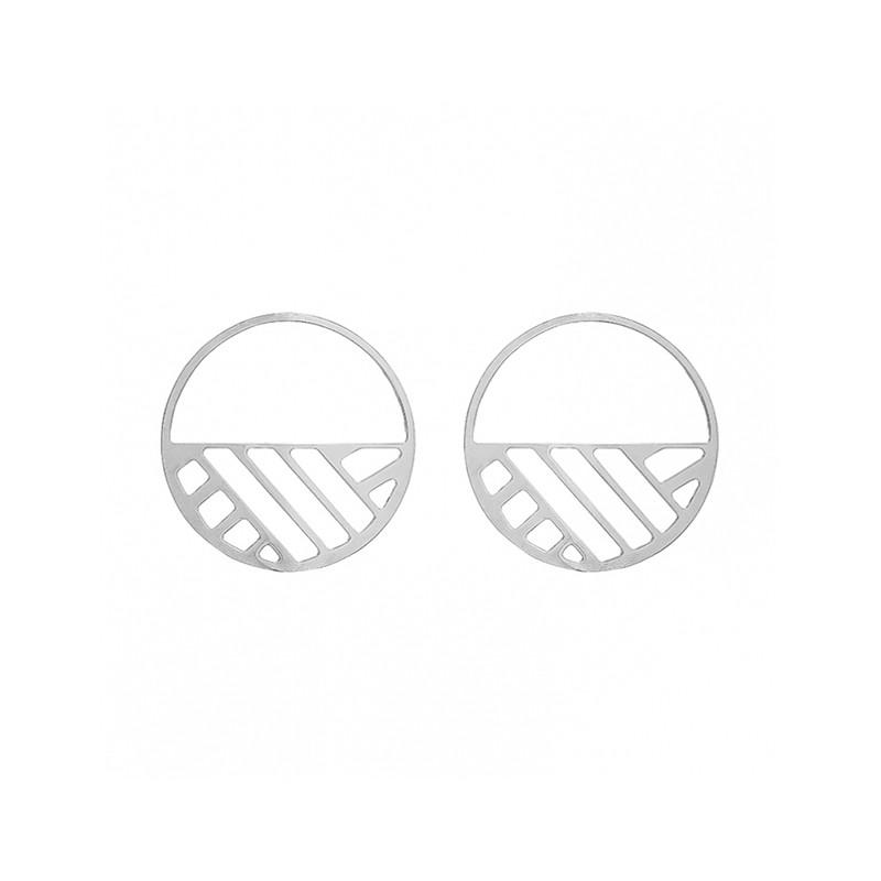 Boucles d'oreilles Les Georgettes Ruban 43 mm finition argent 70318861600000