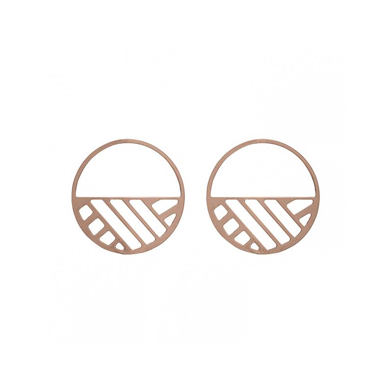 Boucles d'oreilles Les Georgettes Ruban 43 mm finition or rose 70318864100000