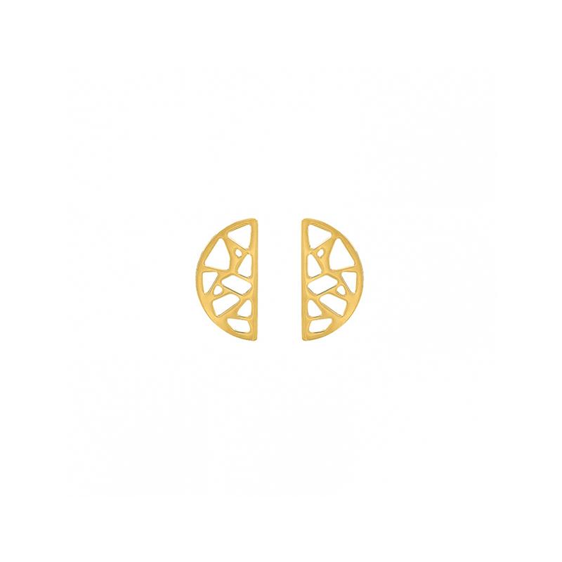 Boucles d'oreilles Les Georgettes Demi Lune Girafe finition or 70318881900000