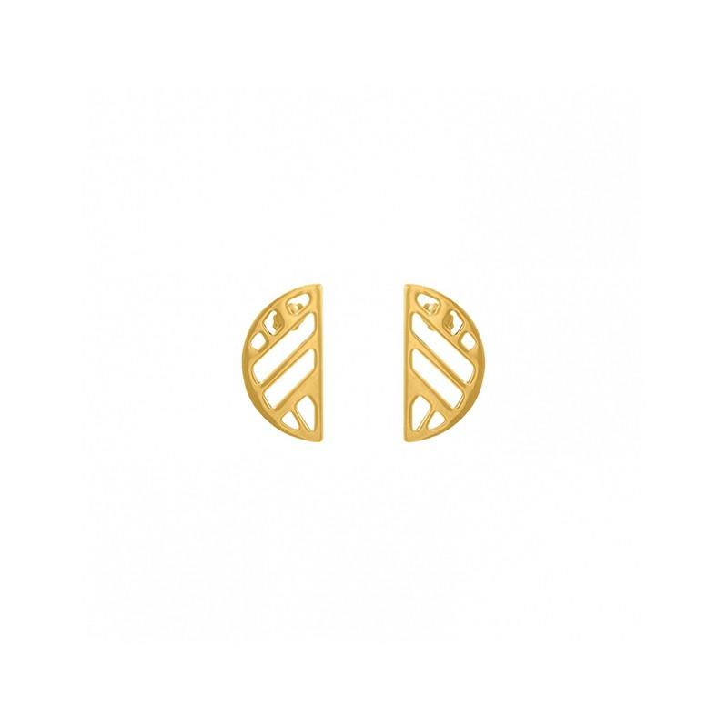 Boucles d'oreilles Les Georgettes Demi Lune Ruban finition or 70318901900000