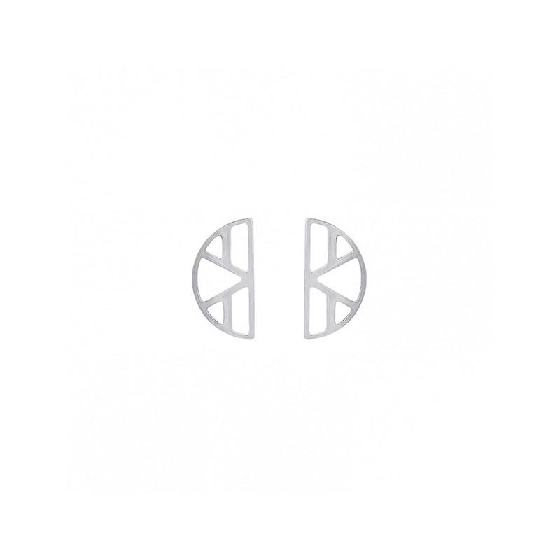 Boucles d'oreilles Les Georgettes Demi Lune Ibiza finition argent 70318911600000