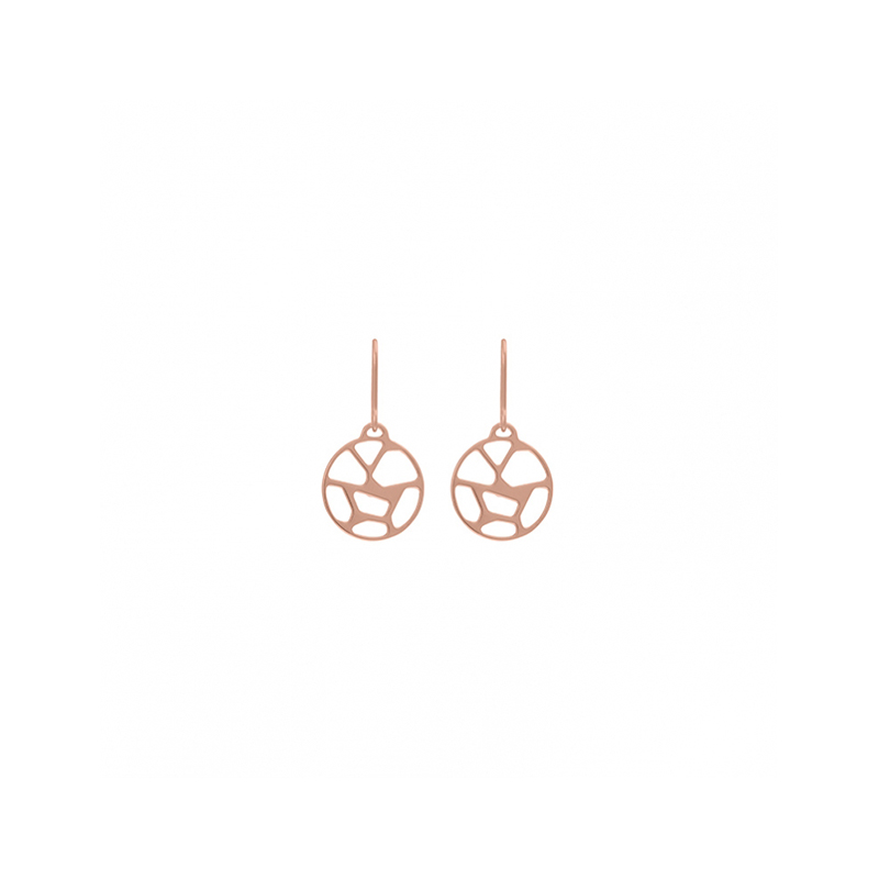 Boucles d'oreilles Les Georgettes dormeuses Girafe finition or rose 70318924100000