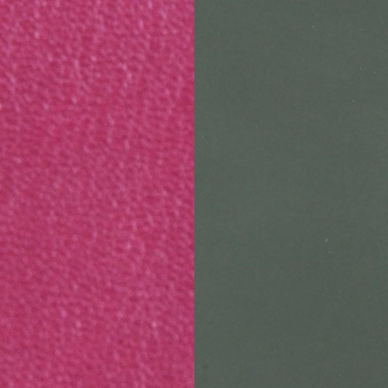 Cuir pour bracelet Les Georgettes largeur 8 mm Fuschia/Kaki 703215299AJ000