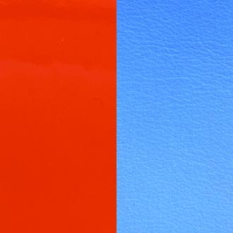 Cuir pour bracelet 8 mm Les Georgettes Orange vernis/Bleuet