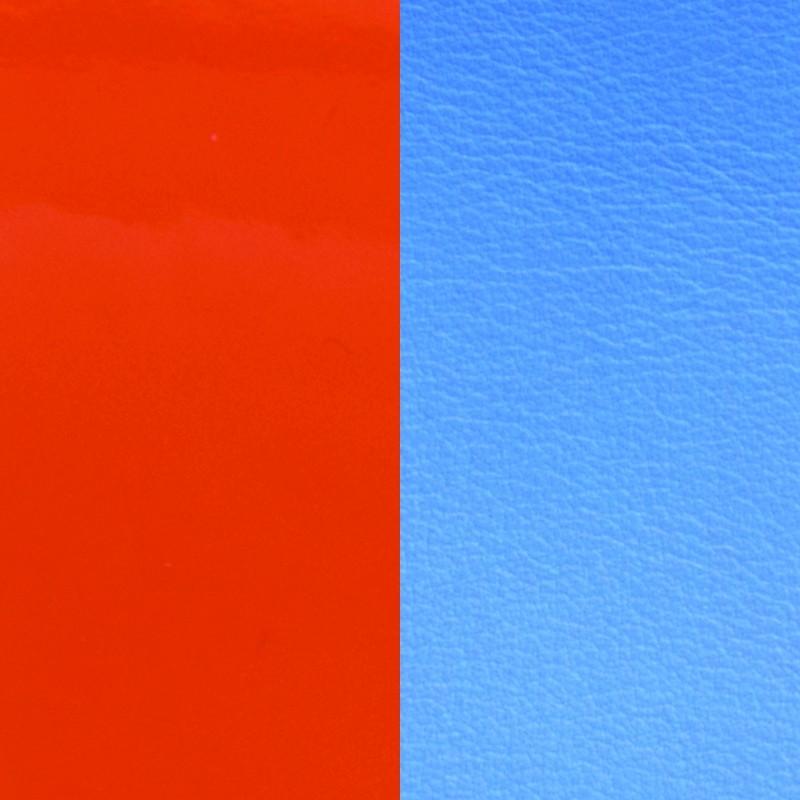 Cuir pour bracelet Les Georgettes largeur 8 mm Orange vernis/Bleuet 703215299C2000