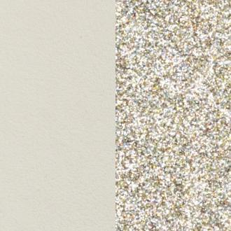 Cuir pour bracelet Les Georgettes largeur 8 mm Crème/Paillettes dorées 703215299C4000