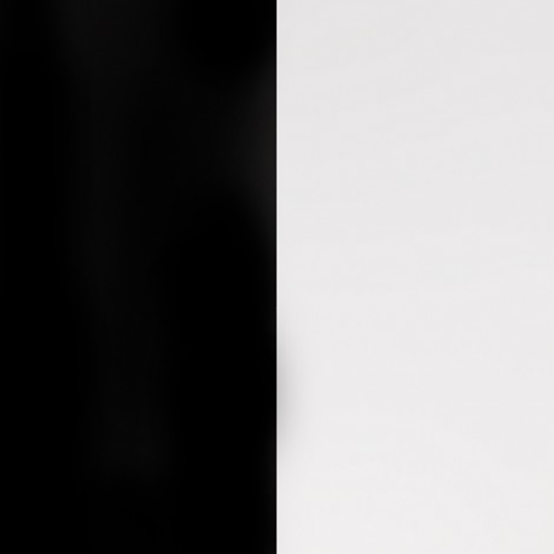 Cuir pour bracelet Les Georgettes largeur 8 mm Noir/Blanc 703215299M4000