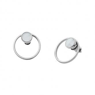 Boucles d'oreilles femme Skagen Agnethe acier argenté SKJ1096040