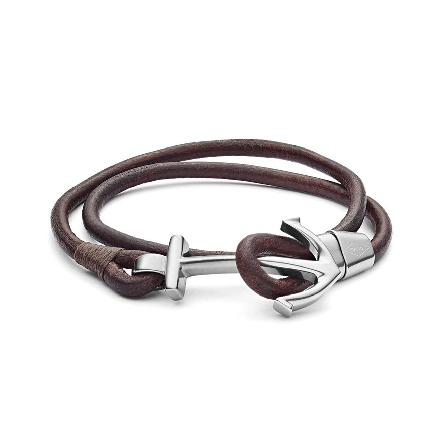 Bracelet homme cuir tresse double tour