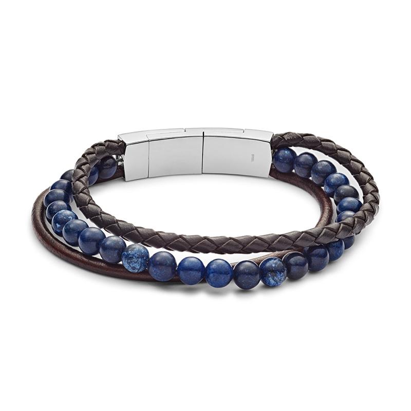 Bracelet homme Fossil Vintage Casual multirang JF02885040