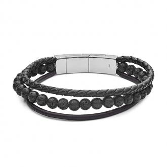 Bracelet homme Fossil Vintage Casual multirang JF02886040