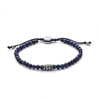 Bracelet homme Fossil Vintage Casual perles de sodalite JF02888040