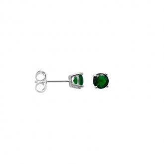 Boucles d'oreilles Carador classique argent 925/000 et pierre de verre verte GES06484GR