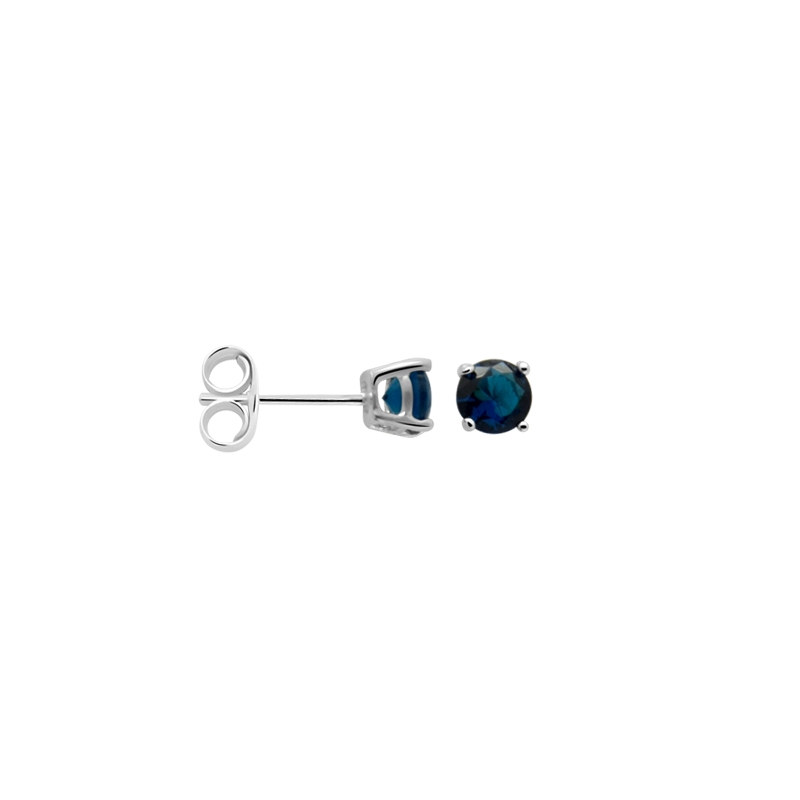 Boucles d'oreilles Carador classique argent 925/000 et pierre de verre bleue GES06484BL