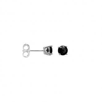 Boucles d'oreilles Carador classique argent 925/000 et pierre de verre noire GES06484BK