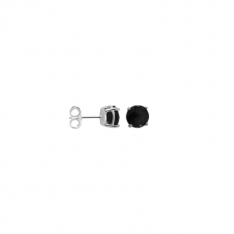 Boucles d'oreilles Carador classique argent 925/000 et pierre de verre bleue GES06486BL