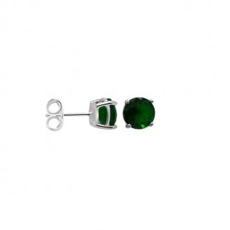 Boucles d'oreilles Carador classique argent 925/000 et pierre de verre verte GES06486GR