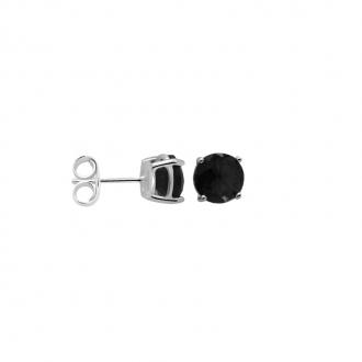Boucles d'oreilles Carador classique argent 925/000 et pierre de verre noire GES06486BK