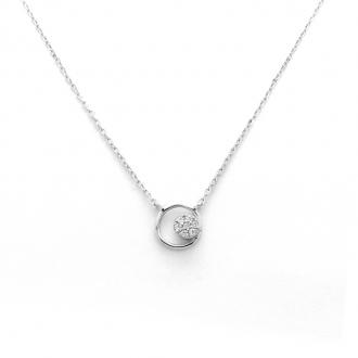 Collier Femme Carador cercle argent 925/000 et oxydes de zirconium RNS00229