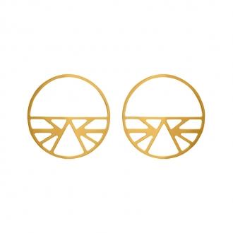 Boucles d'oreilles Les Georgettes Ibiza 43 mm finition or 70318871900000
