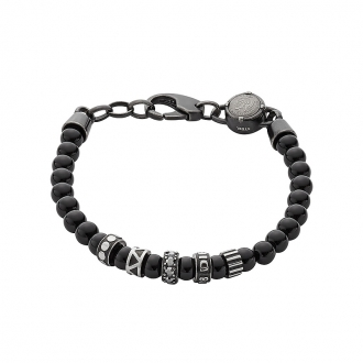 Bracelet Homme Diesel Etnik pierres noires DX0961001
