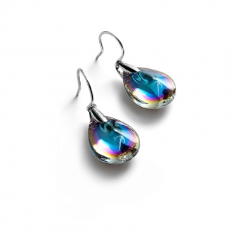 Boucles d'oreilles Baccarat Psydélic scarabée bleu 2109396