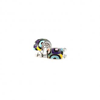 Boucles d'oreilles Una Storia Géométric argent 925/000 BO12147